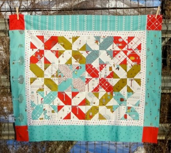 Disappearing four patch quilt- Pinwheel Twist Quilt Pattern