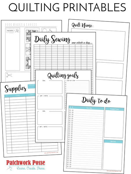 16 QUILTING PRINTABLES