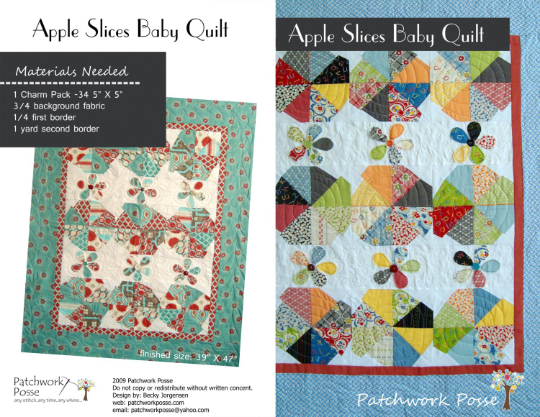 Apple Slices Baby Quilt Pattern
