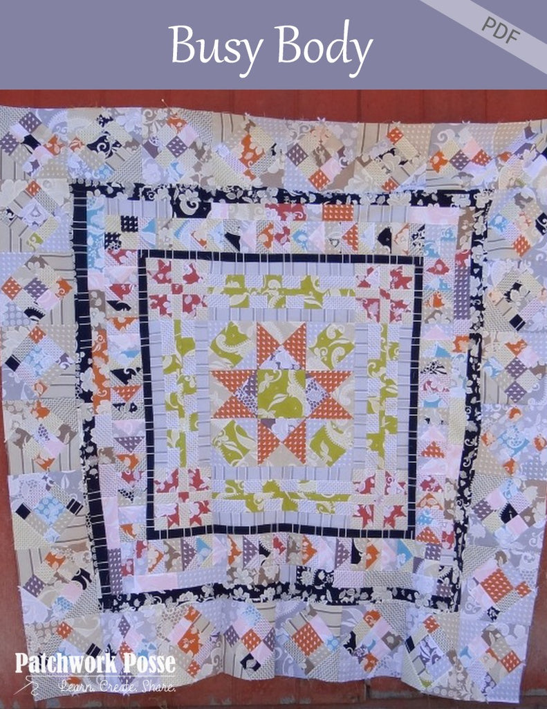 Busy Body Quilt Along - complete pattern