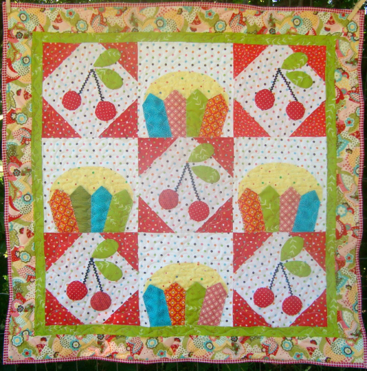 Cherry Chip Cupcake Quilt Pattern