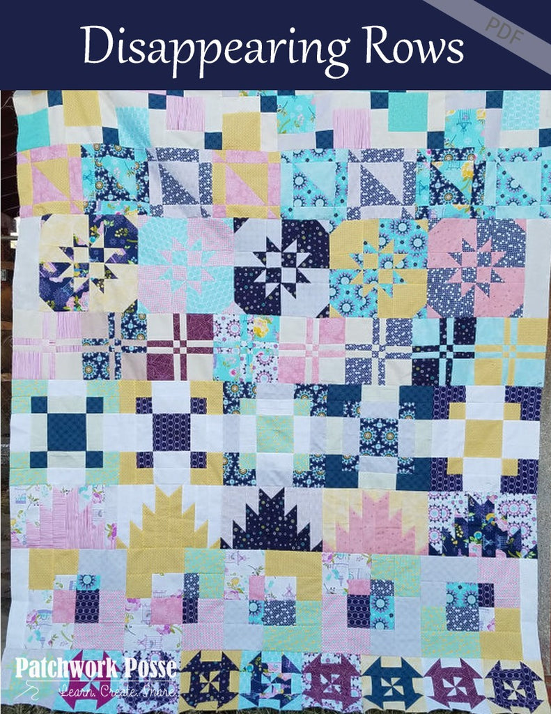 Disappearing Quilt Blocks - Quilt Along Pattern