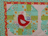 Early Bird Quilt with applique birds