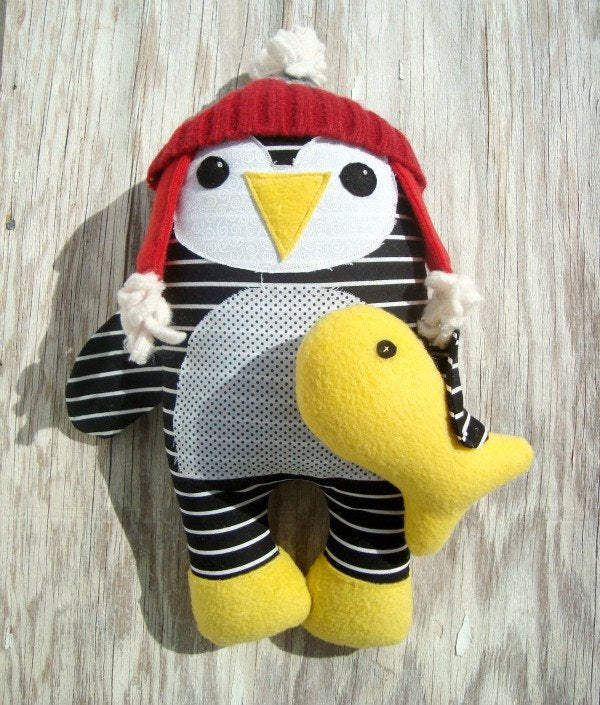 Fish & Chip - penguin and fish pattern
