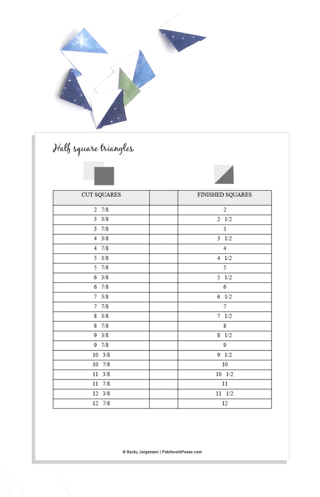 Half Square Triangles Printable