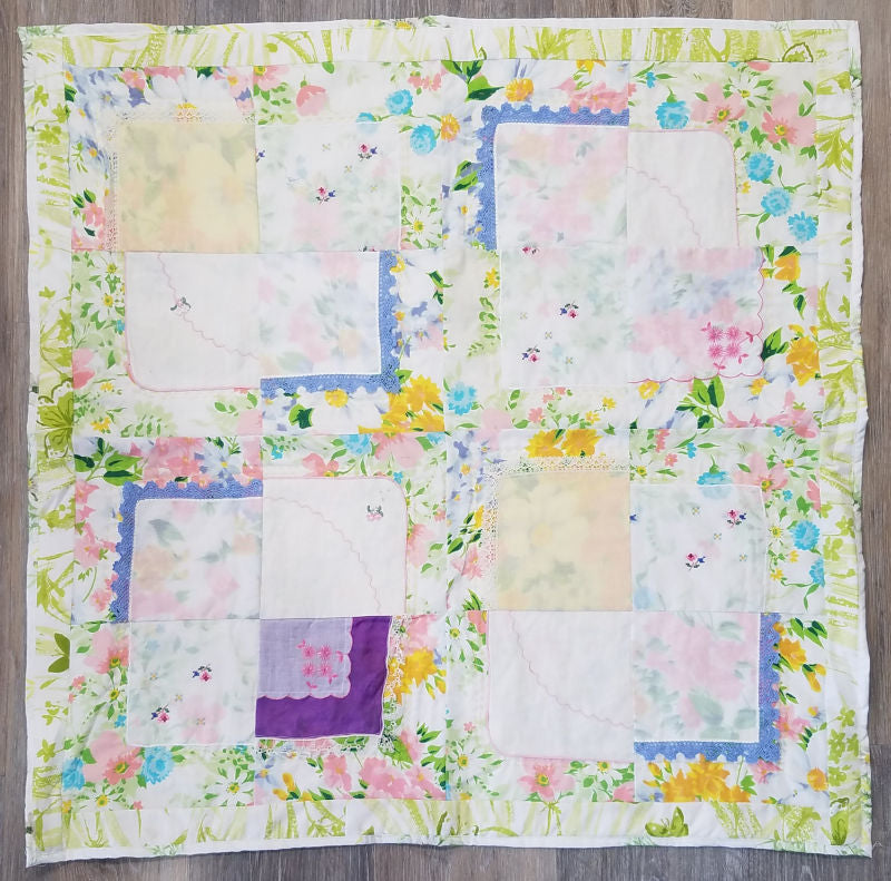Hankie quilt pattern - use your vintage hankie collection!