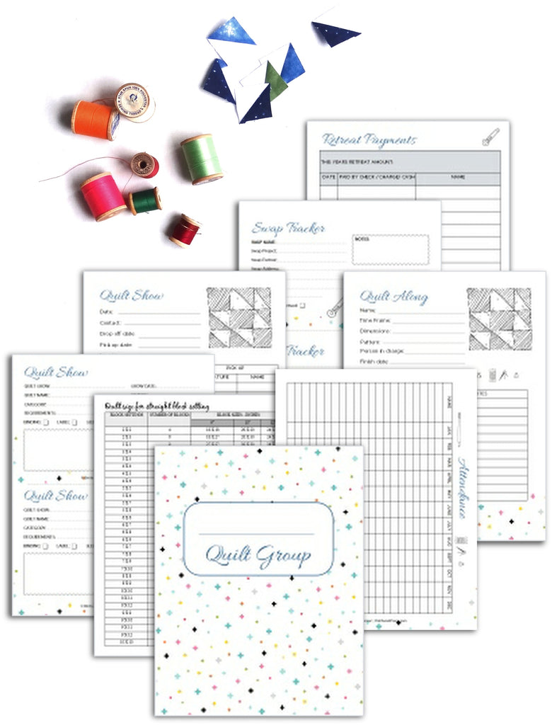 Quilt Group Binder {70+ pages}