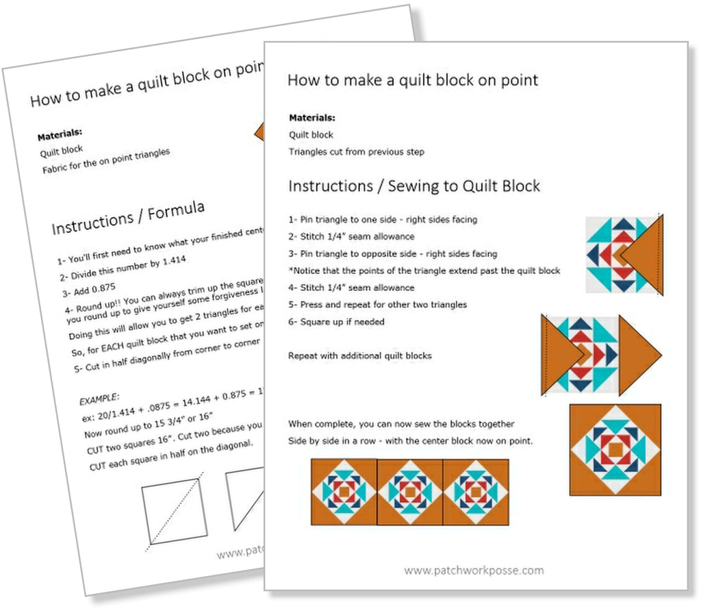 Block on Point Printable