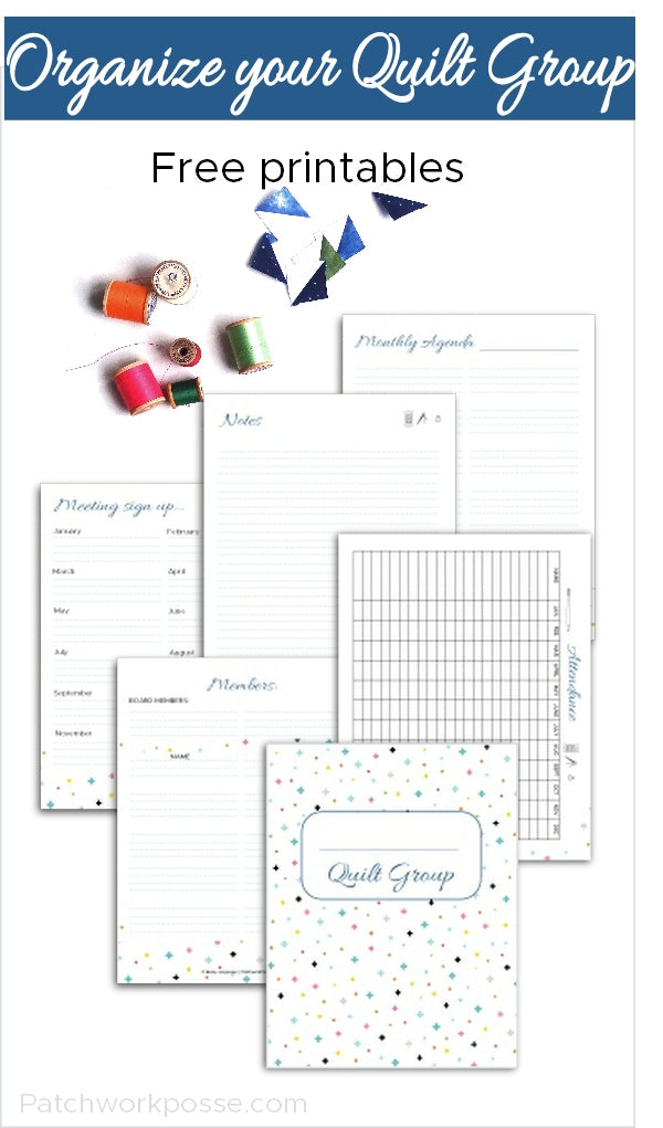 Quilt Group Printables - sample set