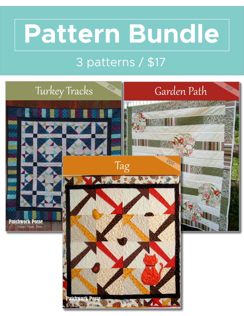 Turkey Tracks, Garden Path, Tag Pattern Bundle