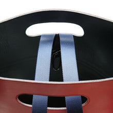 Load image into Gallery viewer, Inner details in blue nylon and red leather handmade in Italy