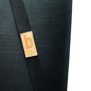 straps Detail Simple be basic black  leather backpack