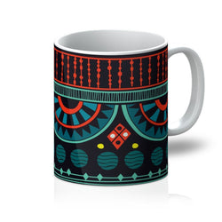 Aqua Tribal Coffee Mug Homeware 11oz