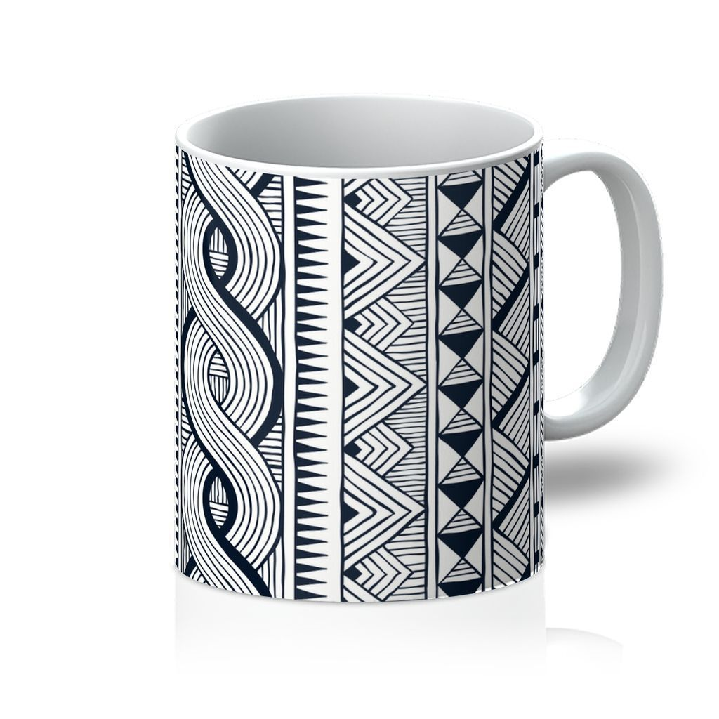 Black Tribal Coffee Mug Homeware 11oz
