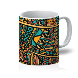 Orange Doodle Coffee Mug Homeware 11oz