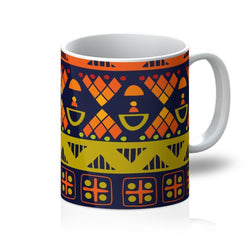 Orange & Yellow Tribal Coffee Mug Homeware 11oz