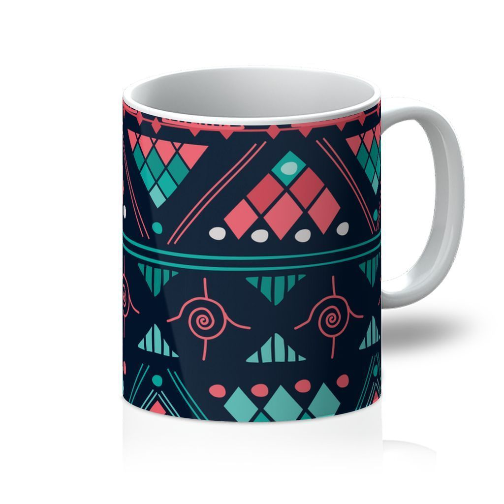 Pink & Blue Mosaic Coffee Mug Homeware 11oz