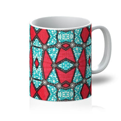 Pink Kaleidoscope Coffee Mug Homeware 11oz