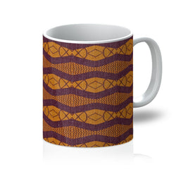 Purple Ripple Coffee Mug Homeware 11oz
