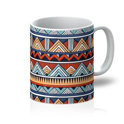 Red & Blue Tribal Coffee Mug Homeware 11oz