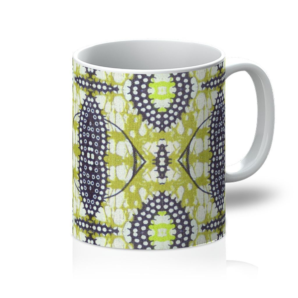 Traditional Lime Green Coffee Mug Homeware 11oz