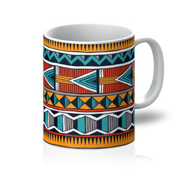 Triangle Tribal Coffee Mug Homeware 11oz