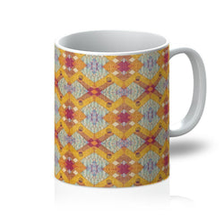 Yellow Diamond Coffee Mug Homeware 11oz
