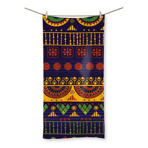 "Blue & Yellow Tribal Beach Towel Homeware 19.7""x39.4"""