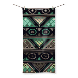 "Green Mosaic Beach Towel Homeware 19.7""x39.4"""