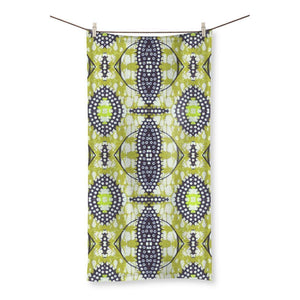 "Traditional Lime Green Beach Towel Homeware 19.7""x39.4"""