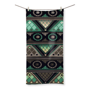 "Green Mosaic Beach Towel Homeware 27.5""x55.0"""