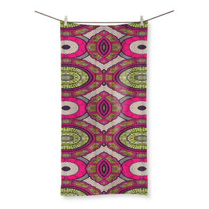 "Modern Pink Beach Towel Homeware 27.5""x55.0"""