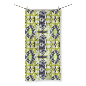"Traditional Lime Green Beach Towel Homeware 27.5""x55.0"""