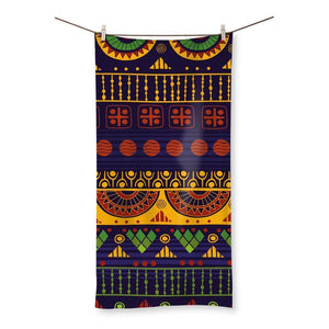 "Blue & Yellow Tribal Beach Towel Homeware 31.5""x63.0"""