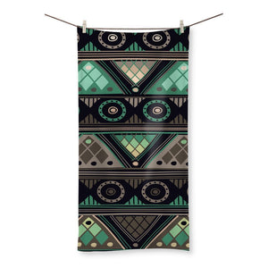 "Green Mosaic Beach Towel Homeware 31.5""x63.0"""