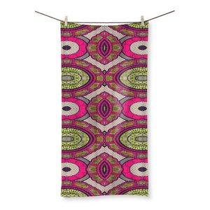 "Modern Pink Beach Towel Homeware 31.5""x63.0"""