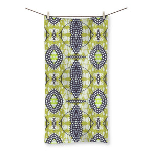 "Traditional Lime Green Beach Towel Homeware 31.5""x63.0"""