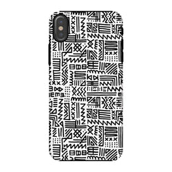 Luxury B&W- ZigZag Phone Case Phone & Tablet Cases iPhone X / Snap / Gloss