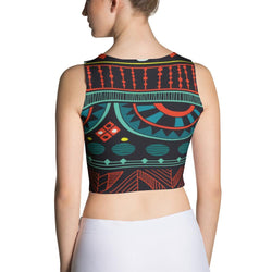 Aqua Tribal Crop Top XS