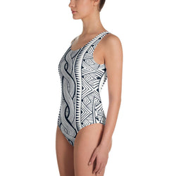 Black Tribal One-Piece Swimsuit XS