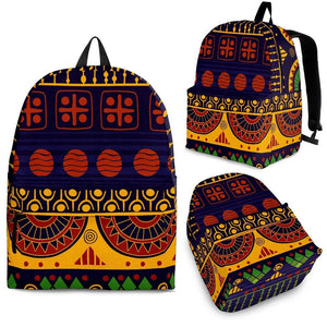 Blue & Yellow Tribal Backpack
