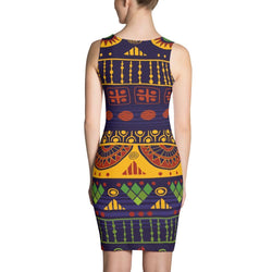 Blue & Yellow Tribal Dress XS