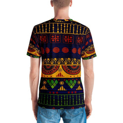 Blue & Yellow Tribal Men's Crew Neck XS