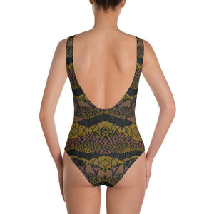 Crocodile Green One-Piece Swimsuit
