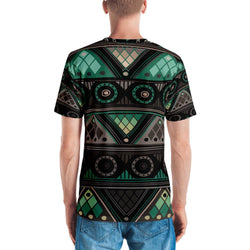 Green Mosaic Men's Crew Neck XS