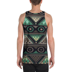 Green Mosaic Men's Tank XS