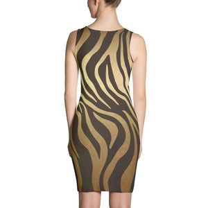 Luxury Gold- Tiger Dress