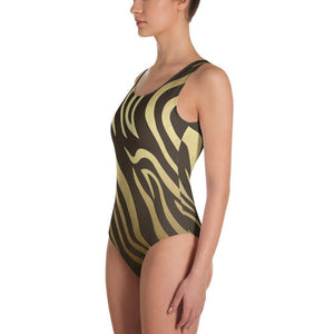 Luxury Gold- Tiger One-Piece Swimsuit