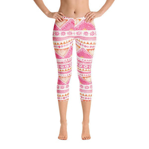 Luxury Pink- Sunset Capri Leggings