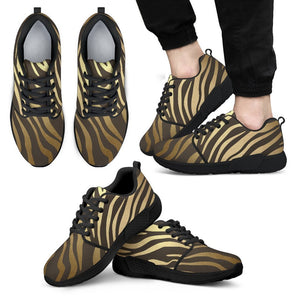 Luxury Gold- Tiger Men's Sneakers Men's Athletic Sneakers - Black - B / US5 (EU38)